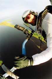 Анжело д'Ариго осваивает воздушное пространство Западной Сибири. (автофотопортрет)